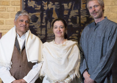 Les trois artistes - Pushpraj KOSHTI, Marianne SVACEK, Nathanaël van ZUILEN