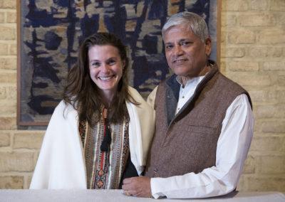 Maître et disciple, Pandit Pushpraj KOSHTI et Marie-Line AUBRY