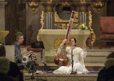 Première partie du concert, Marianne au chant Dhrupad