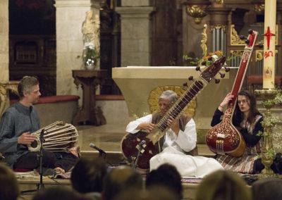 Deuxième partie du concert avec Pushpraj KOSHTI